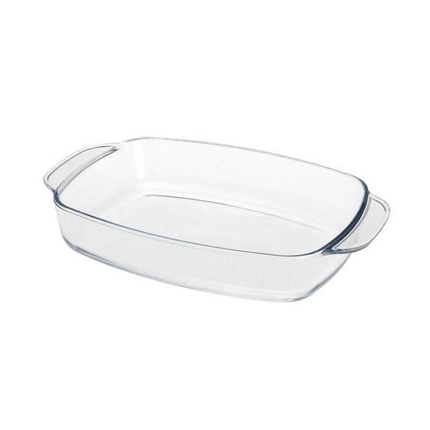 Diepe glazen ovenschaal 29 x 21 x 6 cm
