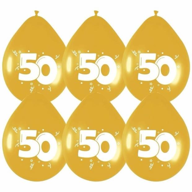 18x Gouden ballonnen 50 jaar - Ballonnen
