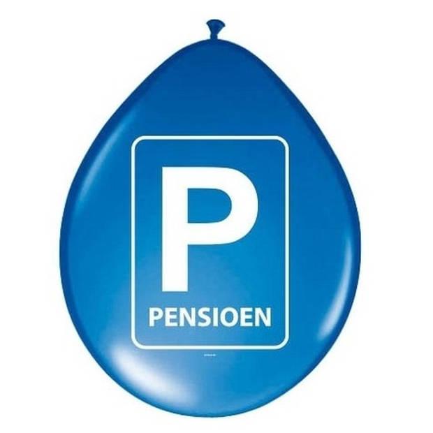 24x Pensioen ballonnen blauw - Ballonnen