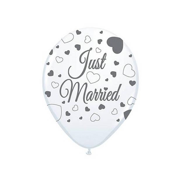 2x Just Married ballonnen 8st. - Ballonnen