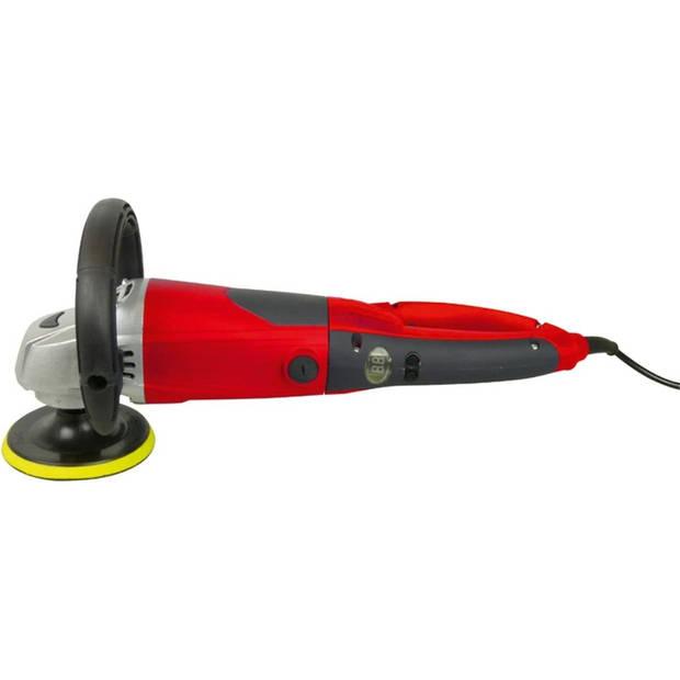 Carpoint haakse polijstmachine 230 Volt 1600 Watt rood