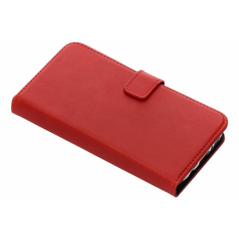 Rode echt lederen booktype hoes voor de Samsung Galaxy S7