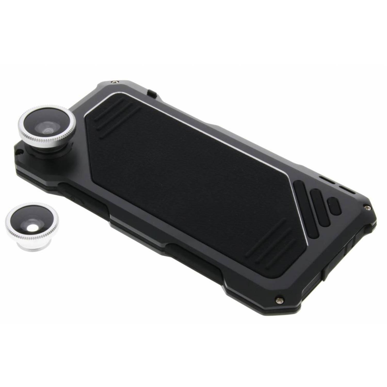 Zwarte lens to protect shell metal case voor de iPhone 6 / 6s