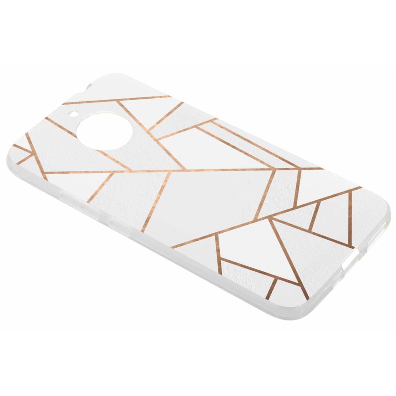 Wit Grafisch design TPU hoesje voor de Motorola Moto E4 Plus