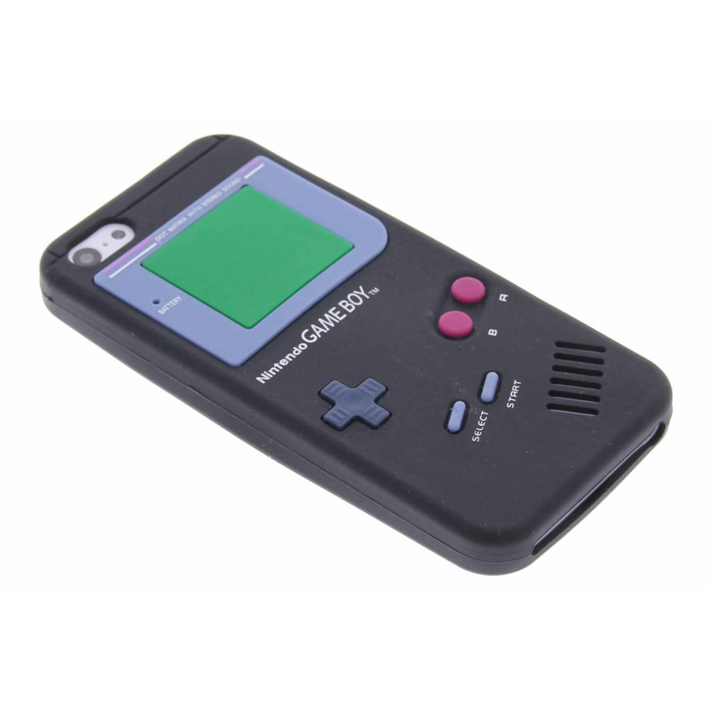 Zwart gameboy siliconen hoesje voor de iPhone 5c