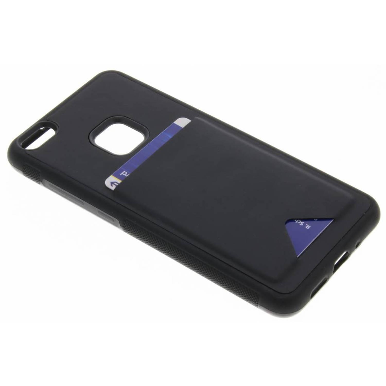 Zwarte Cardslot Hardcase voor de Huawei P10 Lite