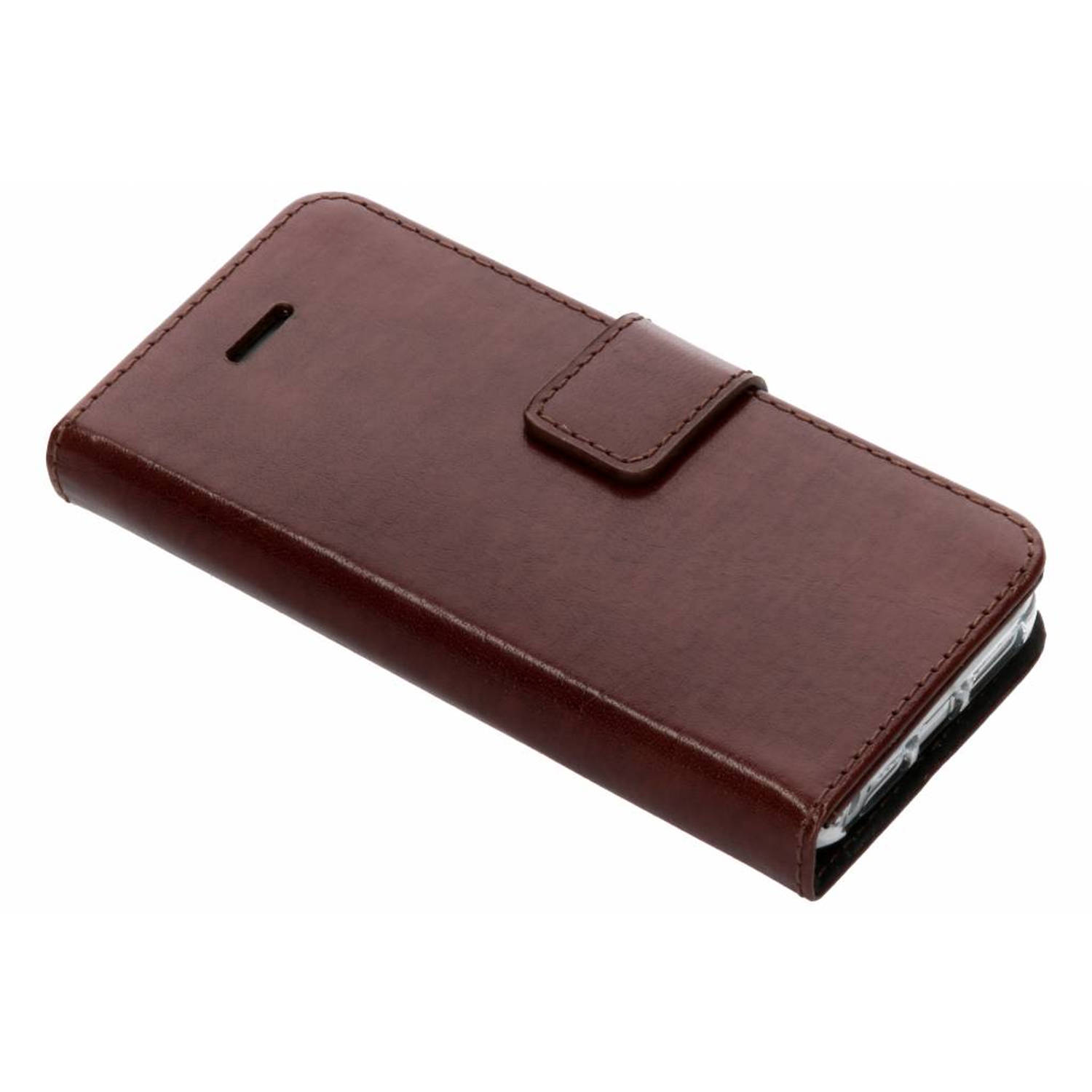 Bruine Booklet Leather voor de iPhone 5 / 5s / SE