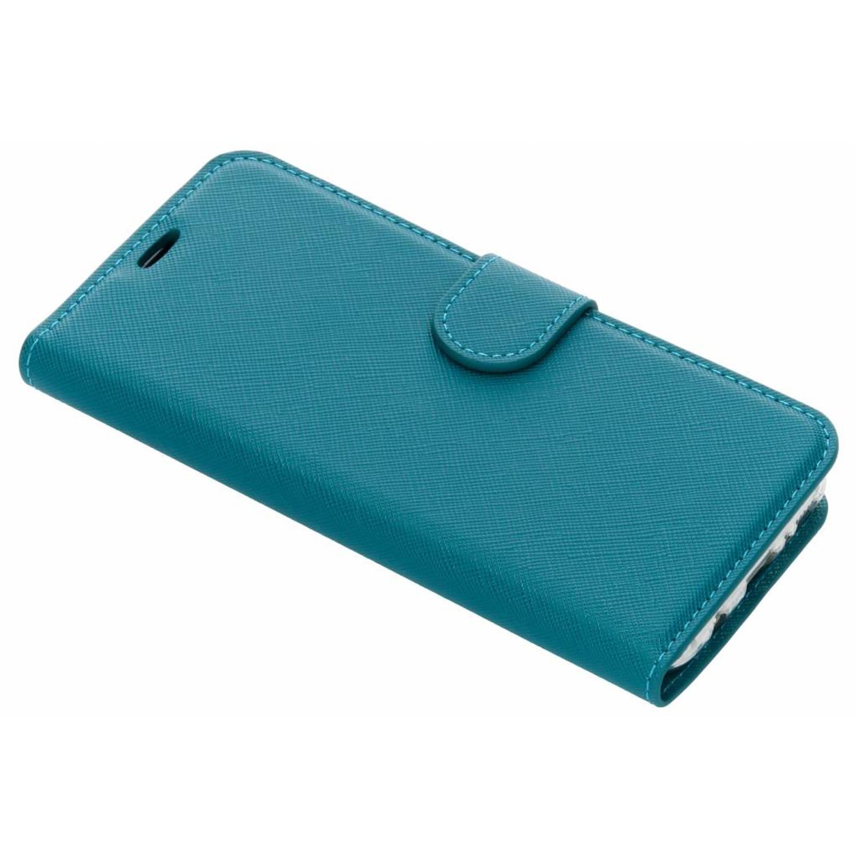 Turquoise Saffiano booktype hoes voor de Samsung Galaxy S8