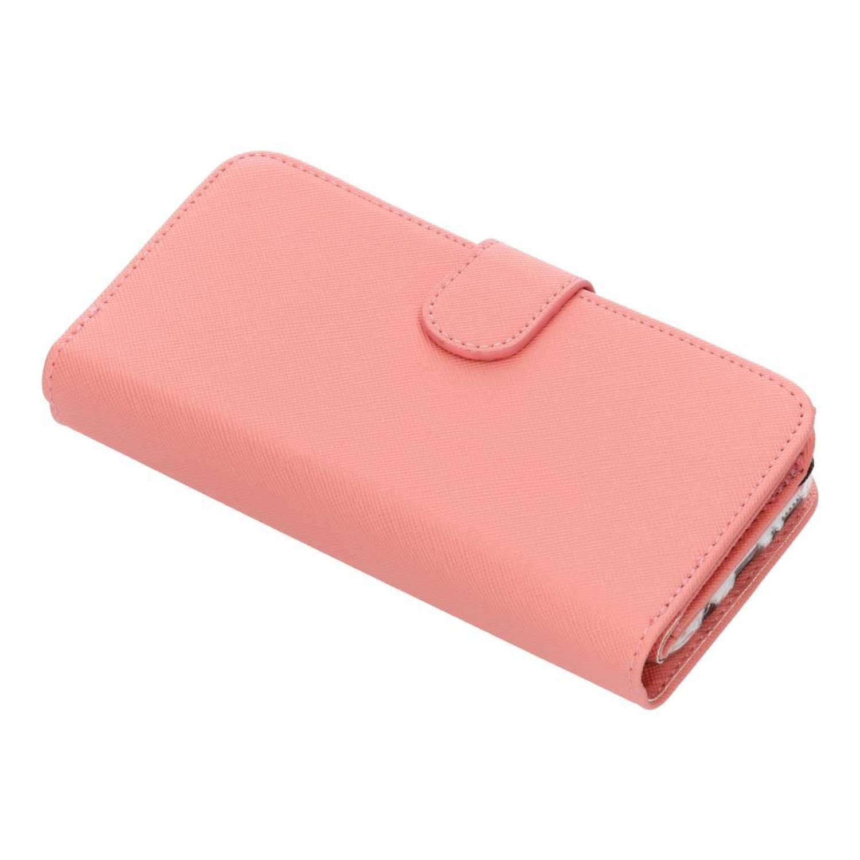 Roze Saffiano 9 slots portemonnee hoes voor de Samsung Galaxy S8