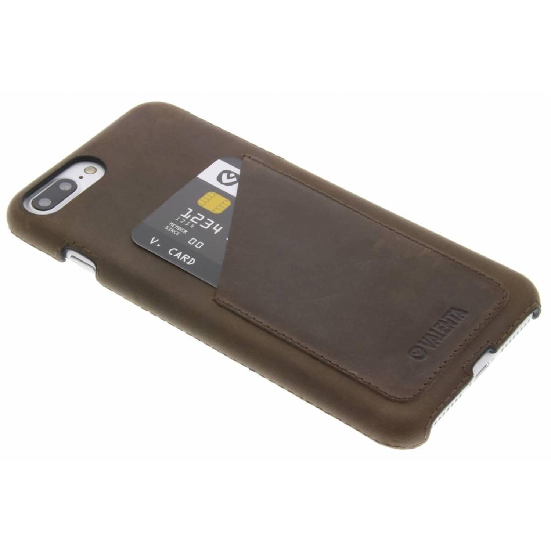 Back Cover Classic Luxe voor de iPhone 8 Plus / 7 Plus - Vintage bruin