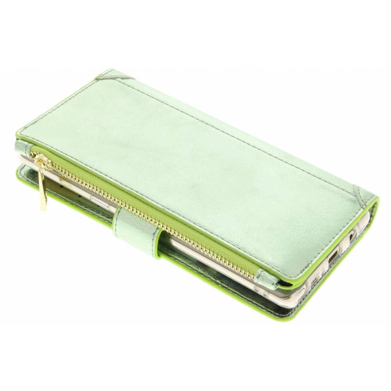 Groene glamour design luxe portemonnee hoes voor de Samsung Galaxy Note 8