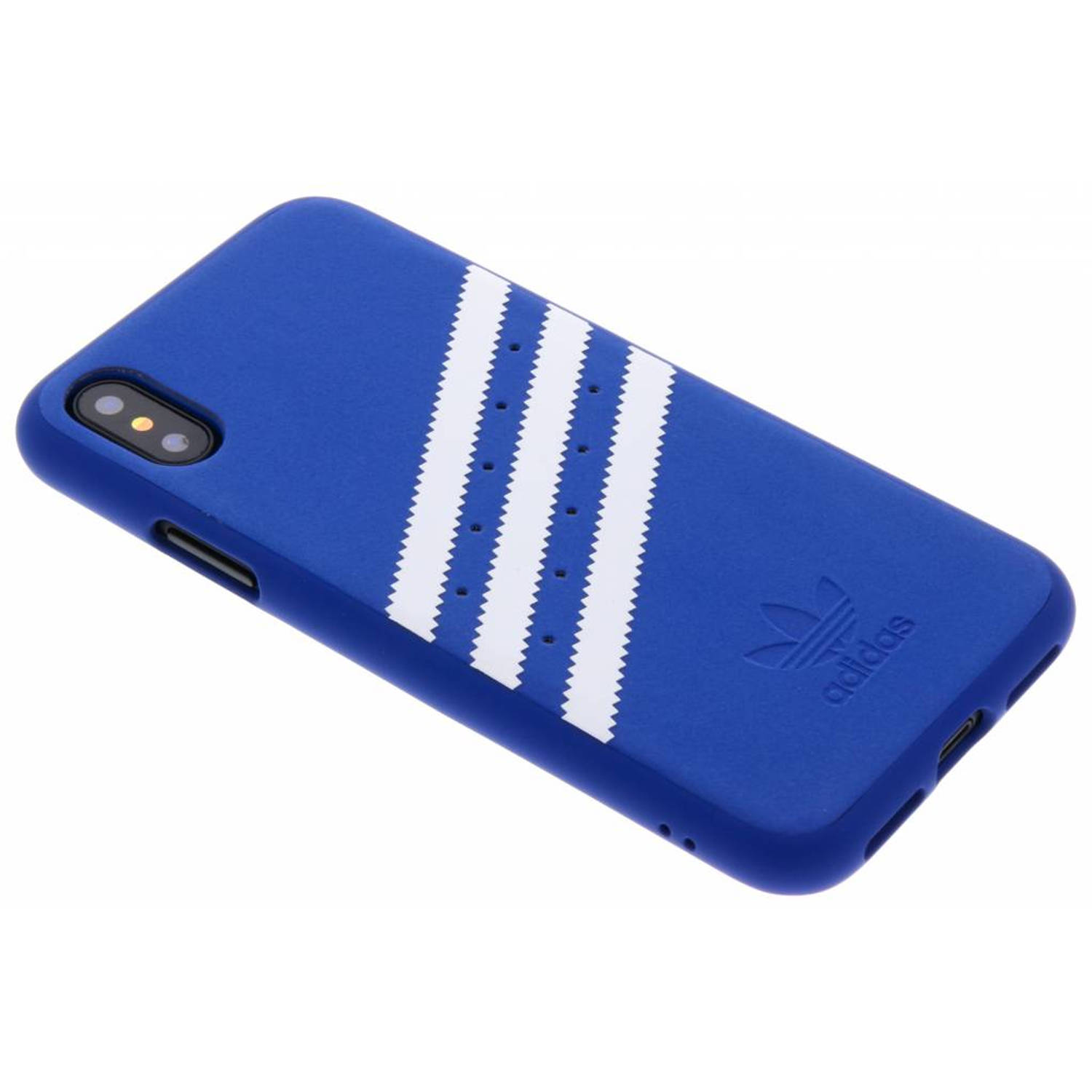 Blauwe Moulded Suede Case voor de iPhone X