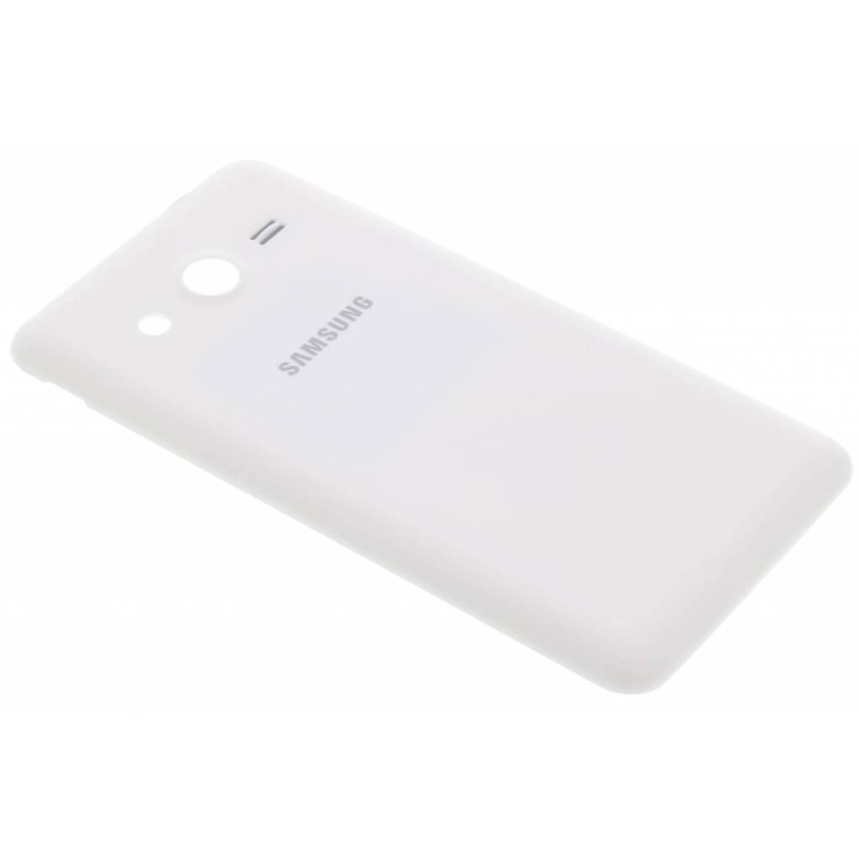 originele Lederen Back Cover voor de Samsung Galaxy Core 2 - Wit