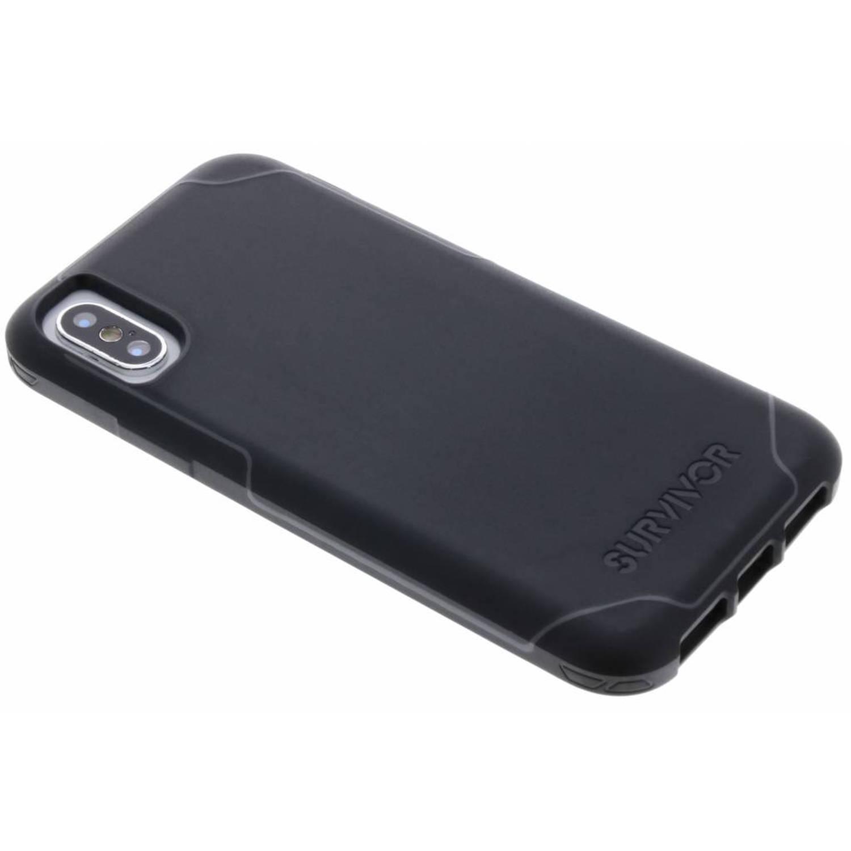 Zwarte Survivor Strong Case voor de iPhone Xs / X