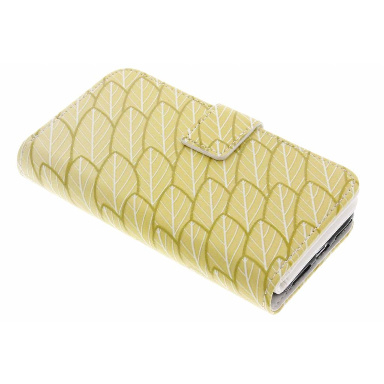 Gold Leaves design TPU portemonnee voor de iPhone 8 / 7