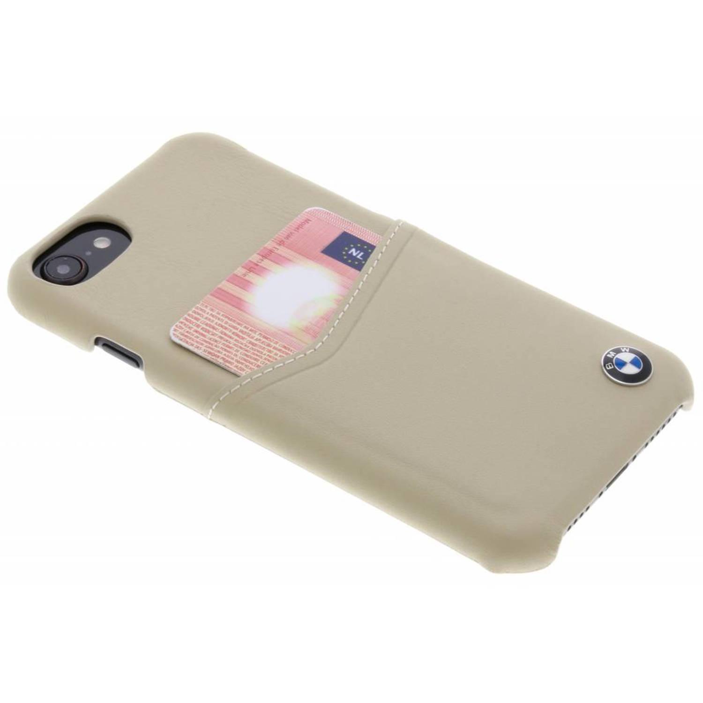 Beige Real Leather Card Case voor de iPhone 8 / 7 / 6s / 6