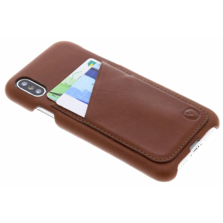 Bruine Back Cover Premium voor de iPhone Xs / X