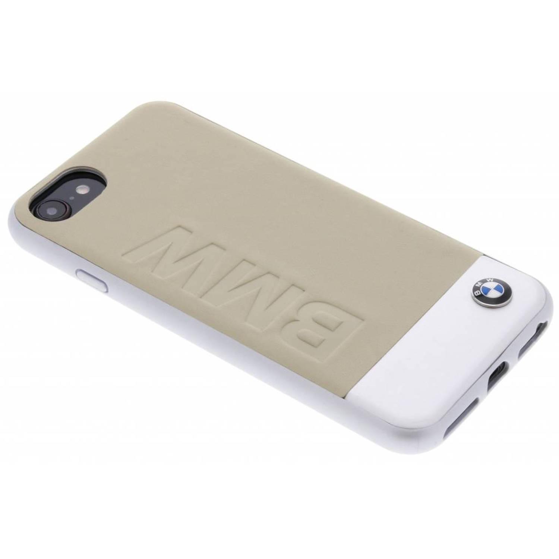 Beige Logo Leather Hard Case voor de iPhone 8 / 7