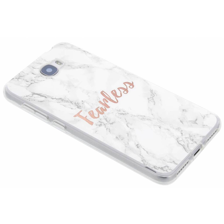 Quote marmer design Fearless TPU hoesje voor de Huawei Y5 2 / Y6 2 Compact
