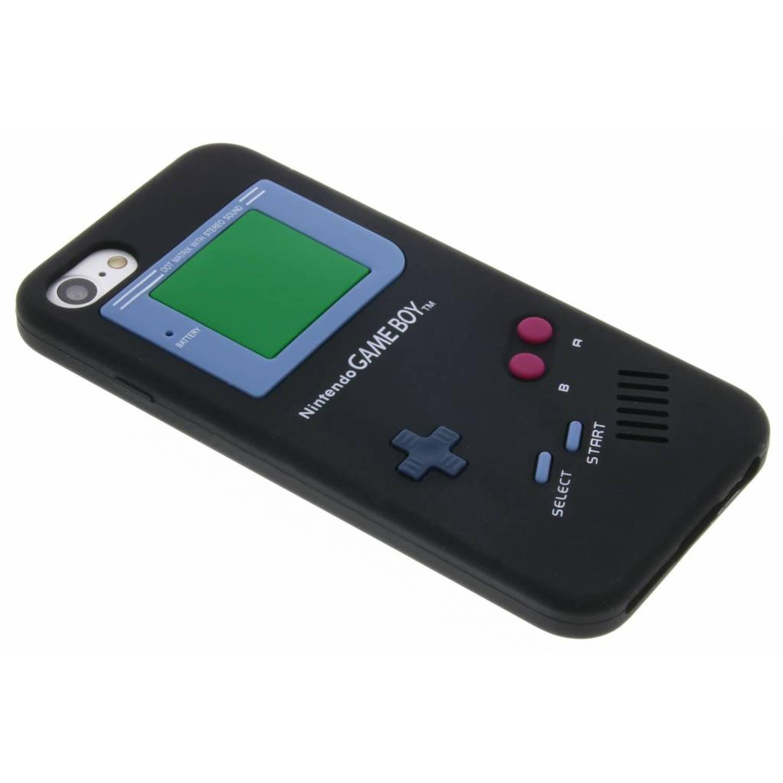 Siliconen hoesje Gameboy voor de iPhone 8-7 Zwart