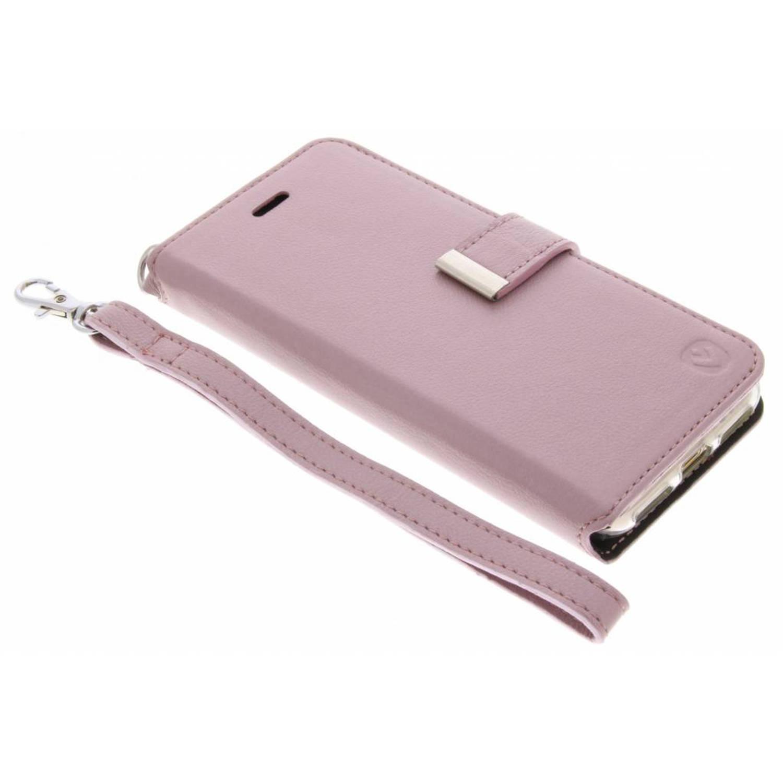 Roze Booklet Premium Handstrap voor de iPhone 8 / 7