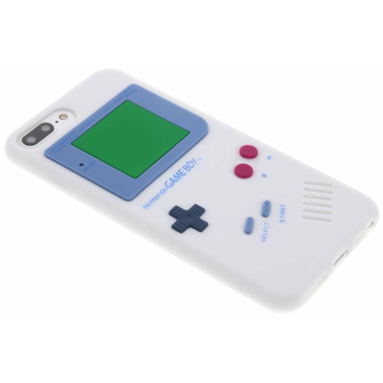 Wit siliconen hoesje Gameboy voor de iPhone 8 Plus-7 Plus