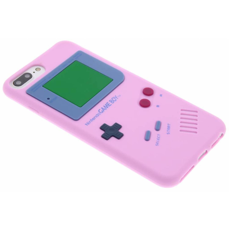 Roze siliconen hoesje Gameboy voor de iPhone 8 Plus-7 Plus