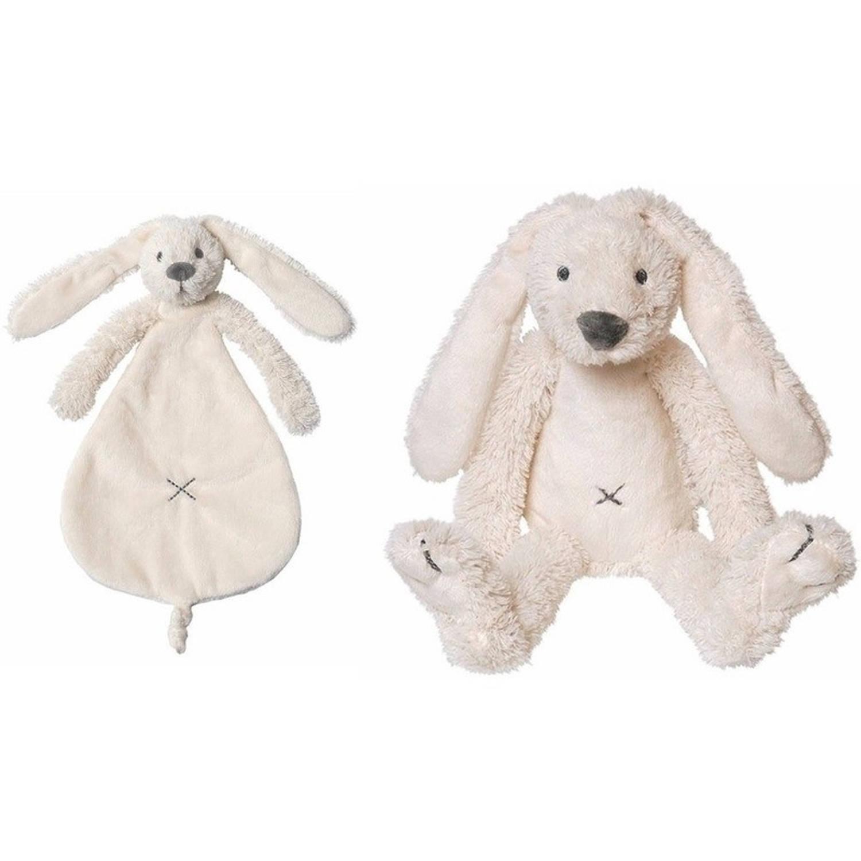 Happy Horse Richie wit konijntje knuffeldoek-tuttel en knuffel Kraamcadeau Baby speelgoed