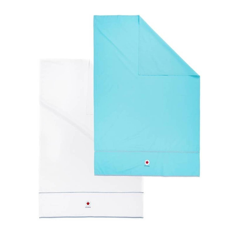 Lief! Boy kinderlaken (set van 2) - 100% katoen - Ledikant (100x150 cm) - Blauw