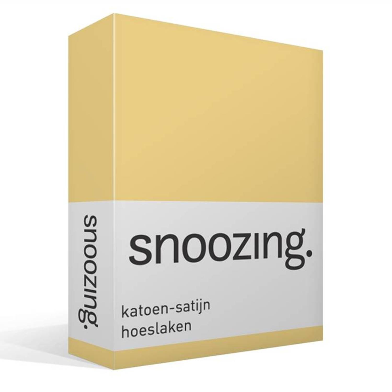 Snoozing katoen-satijn hoeslaken - Lits-jumeaux (160x200 cm)