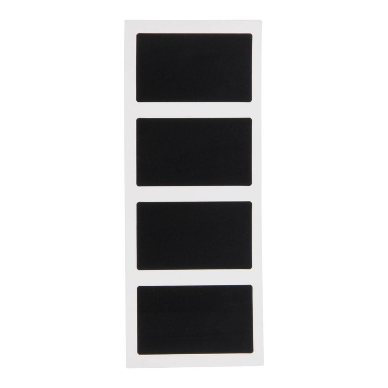 8x Krijtbord stickers rechthoek 8 cm