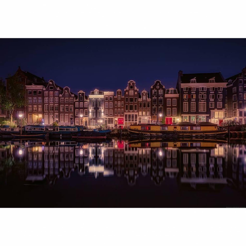 Amsterdam by night - 4 delig - 368 x 254 cm - Multi