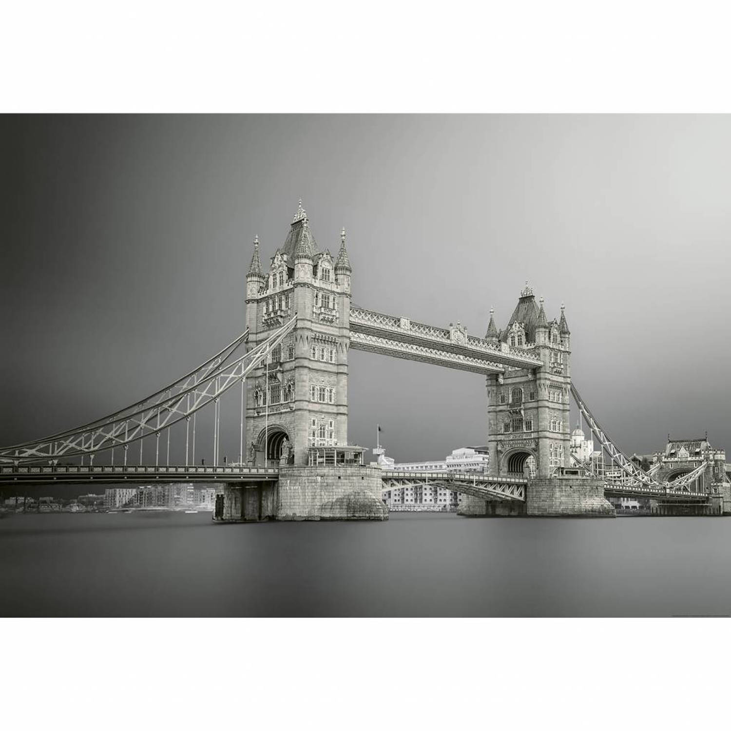 Tower Bridge London - 4 delig - 368 x 254 cm - Grijs