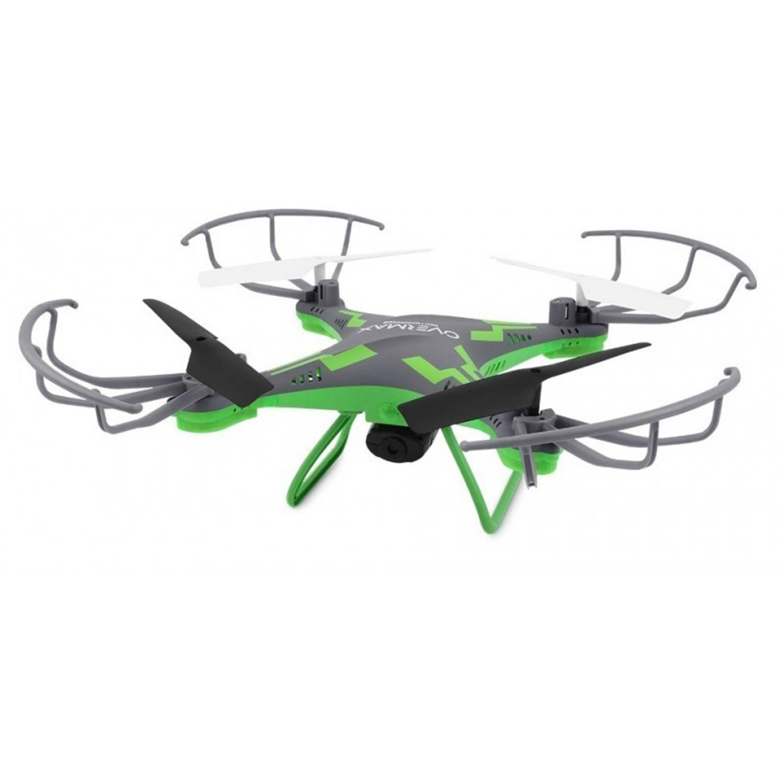 Overmax X-Bee Drone 3.1 groen/grijs WiFi, Quadrocopter met 2MP camera. 6 axis, 3 batterijen 750mAh