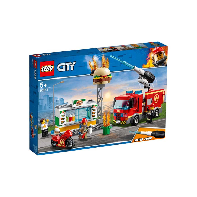 Korting LEGO City Brand bij het hamburgerrestaurant 60214