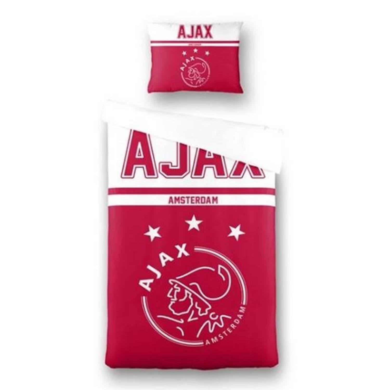 Afbeelding van Ajax dekbedovertrek - 100% katoen - 1-persoons (140x200/220 cm + 1 sloop) - 1 stuk (60x70 cm) - Rood