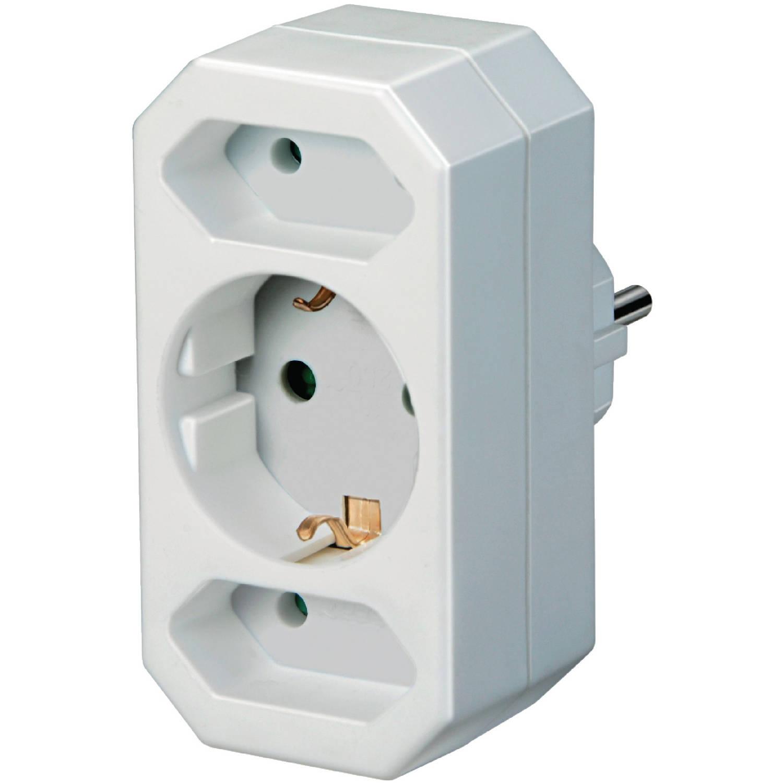 Bekend Brennenstuhl Stopcontact splitter 230V 1 x Schuko / 2 x Euro Wit MQ32