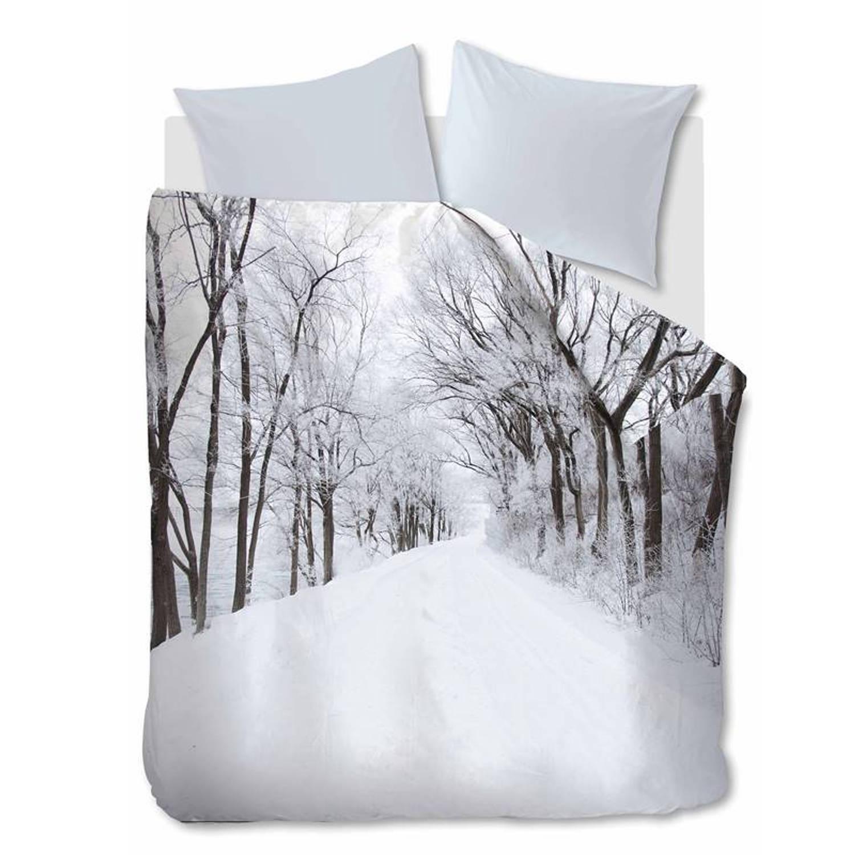 Afbeelding van Ambiante Amira dekbedovertrek - 100% katoen - Lits-jumeaux (240x200/220 cm + 2 slopen) - White
