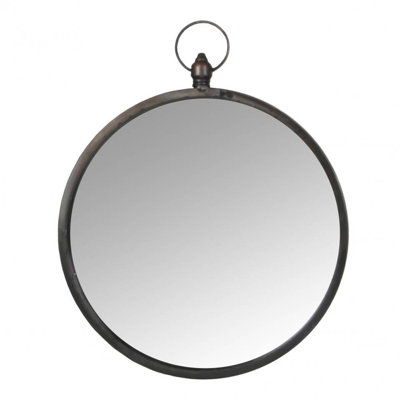 Mica Decorations wandspiegel - Ø 44,5 cm - zwart