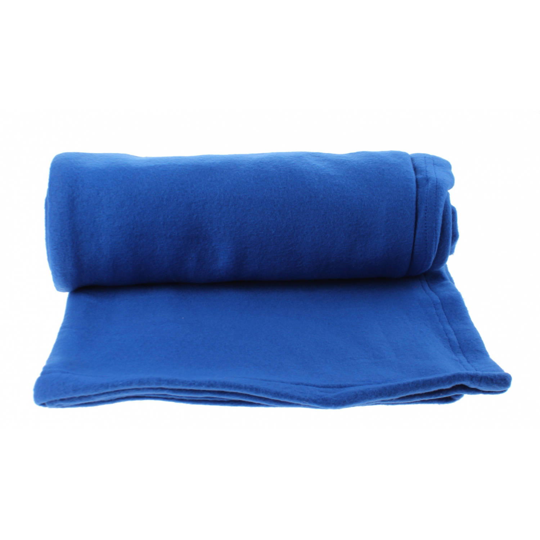 B&Co picknickkleed fleece blauw 150 x 130 cm