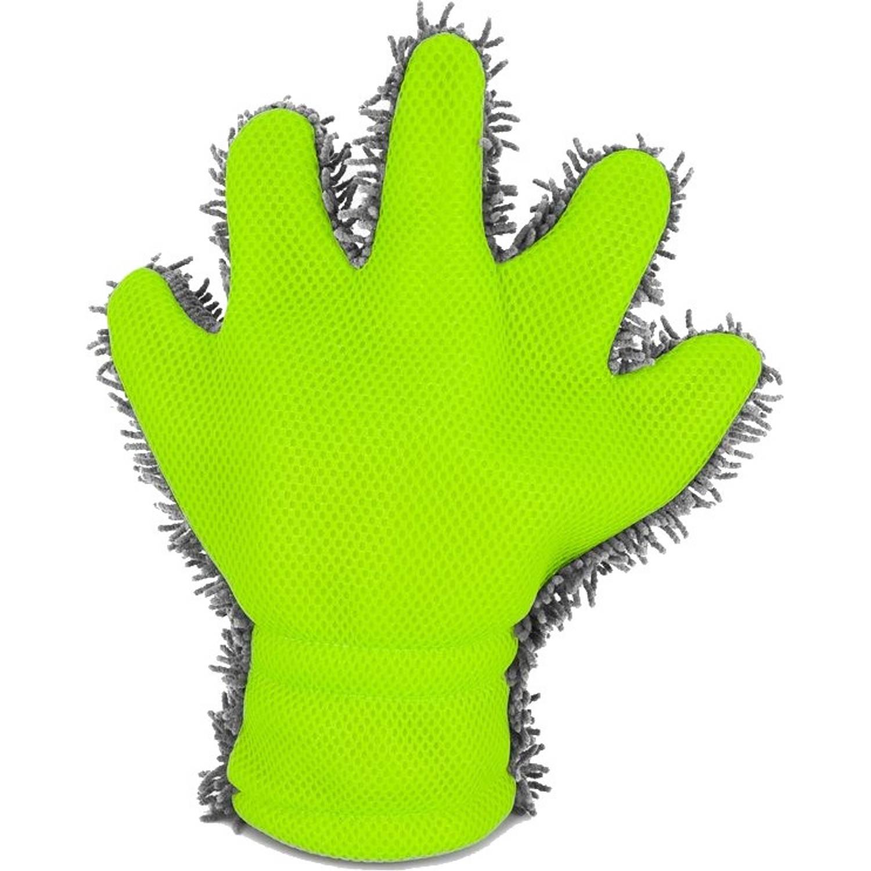 Afbeelding van AutoStyle dubbelzijdige washandschoen 30 x 25 x 3 cm grijs/groen