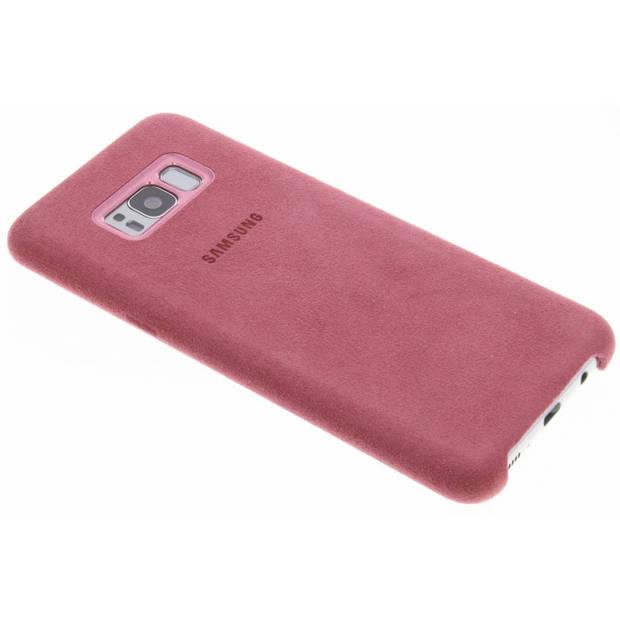 Alcantara Backcover Samsung Galaxy S8 Plus hoesje - Roze