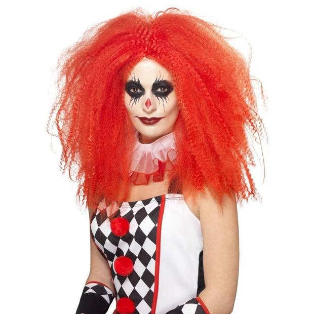 Rode luxe clownspruik XL voor volwassenen - Verkleed accessoires