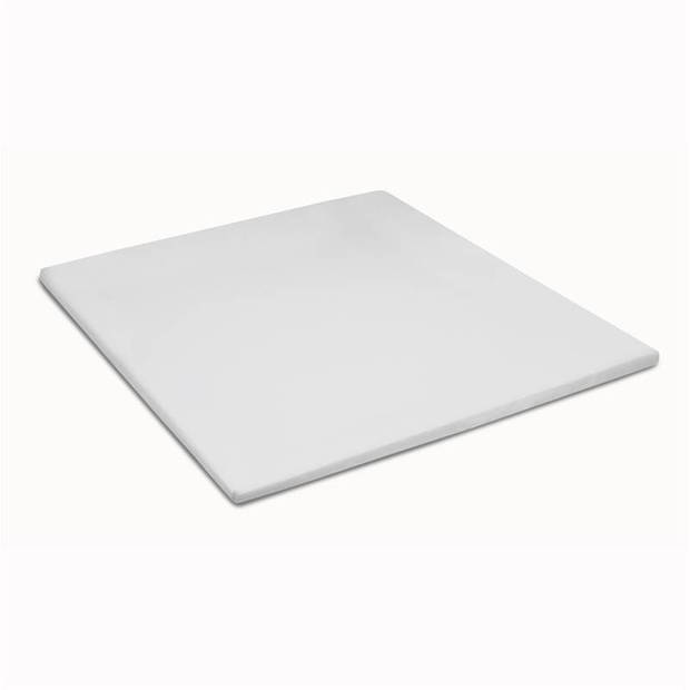 Cinderella basic percaline katoen topper hoeslaken - 100% percaline katoen - Lits-jumeaux (180x220 cm) - White