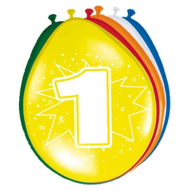 Ballonnen 1 jaar van 30 cm 16x stuks