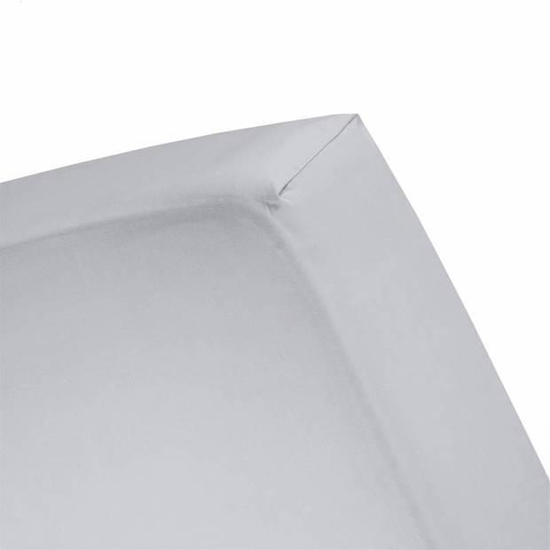 Cinderella flanel hoeslaken - 100% geruwde flanel-katoen - Lits-jumeaux (160x200/210 cm) - Grey