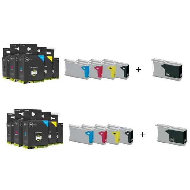 Inktmedia huismerk SET geschikt voor Brother LC-1000/970 serie 10x box