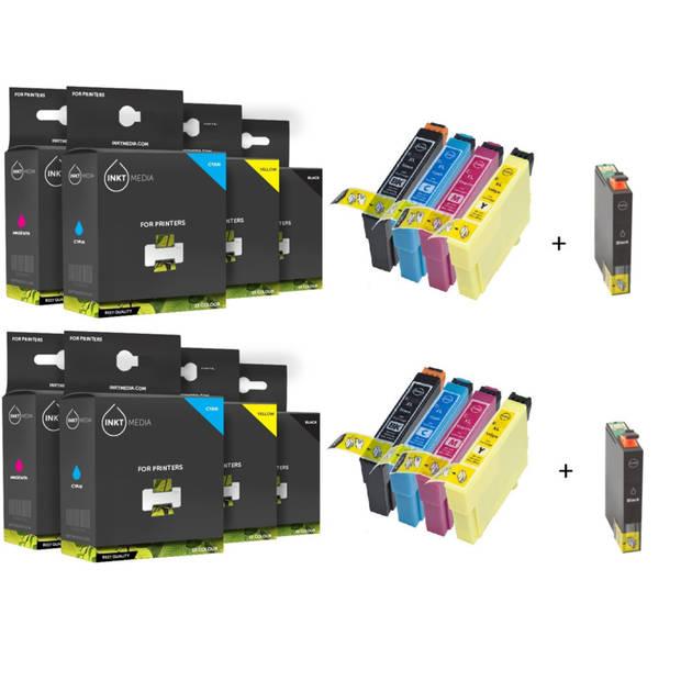 Inktmedia huismerk SET geschikt voor Epson 16 / 16XL T1626 / T1636 10x box