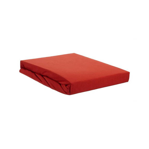 Beddinghouse jersey lycra split-topper hoeslaken - 95% gebreide katoen - 5% lycra - Lits-jumeaux (160x200/220 cm) - Rood