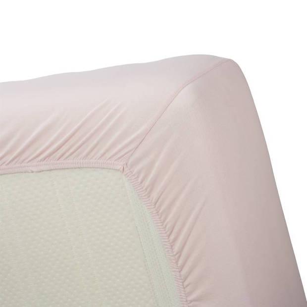 Beddinghouse jersey hoeslaken - 100% gebreide jersey katoen - Lits-jumeaux (180x200/220 cm) - Soft Pink